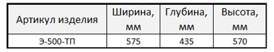 Э-500-ТП-табл
