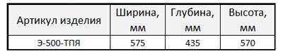 Э-500-ТПЯ_табл